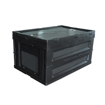 60*40*32 cm Folding plastic turnover box / container/ crate with lid