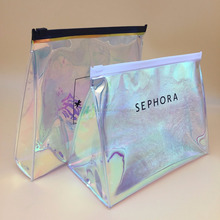 custom size and logo pvc bag hologram pvc zipper bag with logo