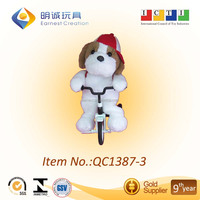 Attractive Kid's Educational plush animal with bicycle