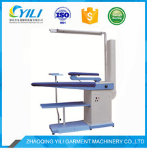Narrow shaped vacuum and blowing ironing table with chimney