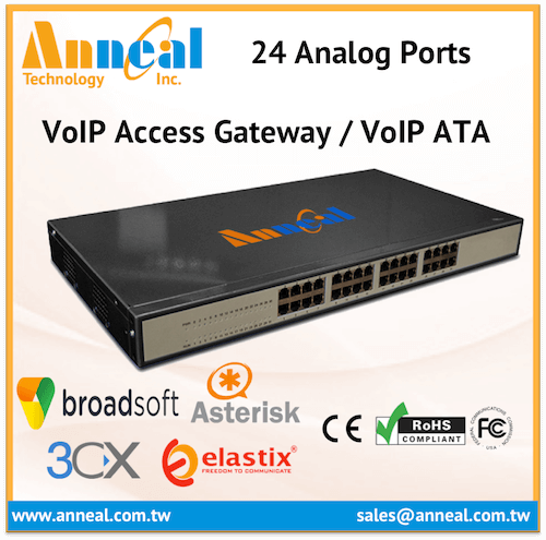 Easy to Install Flexible 24 FXS Port Gateway FXO VoIP ATA for IP PBX