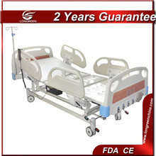 CE medical powder-coated Steel frame electric bed king size
