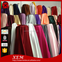 Shining nice color printing strong stretch 100% polyester jacquard satin fabric