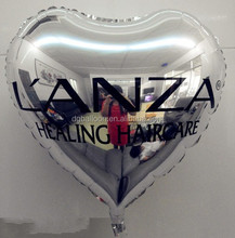 18 inches heart shape foil balloon with logo printing for advertising