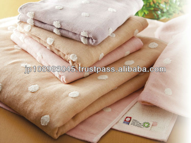 Imabari Organic Towel dyed in Kyoto Towels Japanese for Wholesale