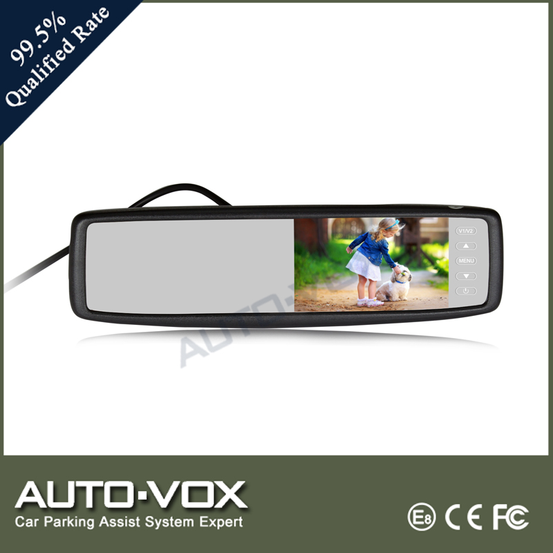 Cheap car rear view mirror with touch screen button control