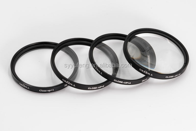 Green.L 72mm Camera Macro Close Up Filters Kit +1+2+4+10 With Package