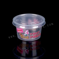 4oz printed logo mini plastic saucer pudding jelly cup and lid, plastic container for sauce FDA