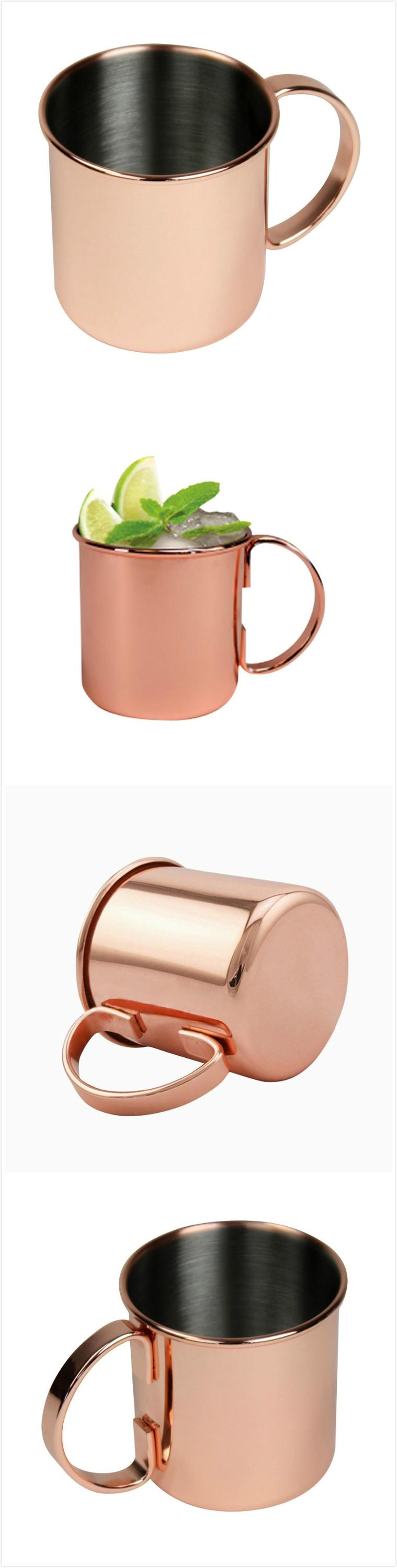 Factory wholesale Stainless Steel 16oz Moscow Mule Copper beer wine cup drinking mugs