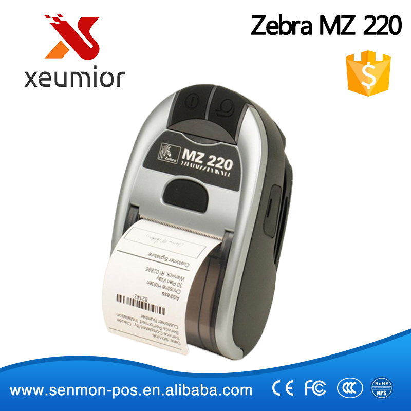 Zebra MZ 220 Original Small Portable Barcode Label Printer,Mobile Receipt Printer