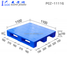 Cheap price 1000*1100 mm hdpe edge racking use plastic pallet