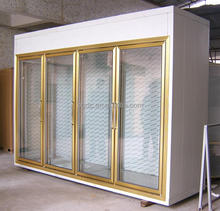 Supermarket glass doors cold room