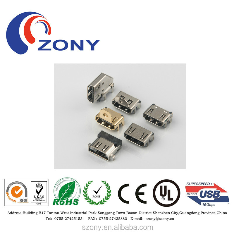LCP hdmi connector 19PIN type a female