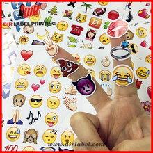 Hot selling wholesale waterpoof self adhesive emoji self adhesive label sticker
