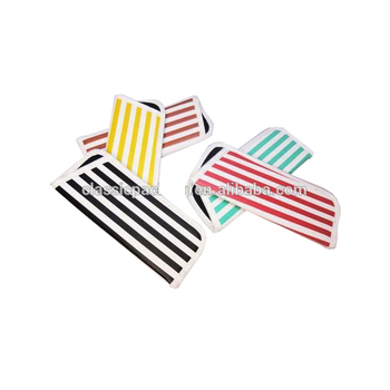New products customized stripe designed recyclable pouch with your logo
