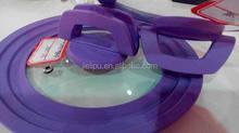 cookware glass lid with silicone ring