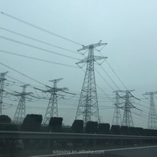 transmission line 110kv 132kv towers and lattice masts double circuit galvanized power poles