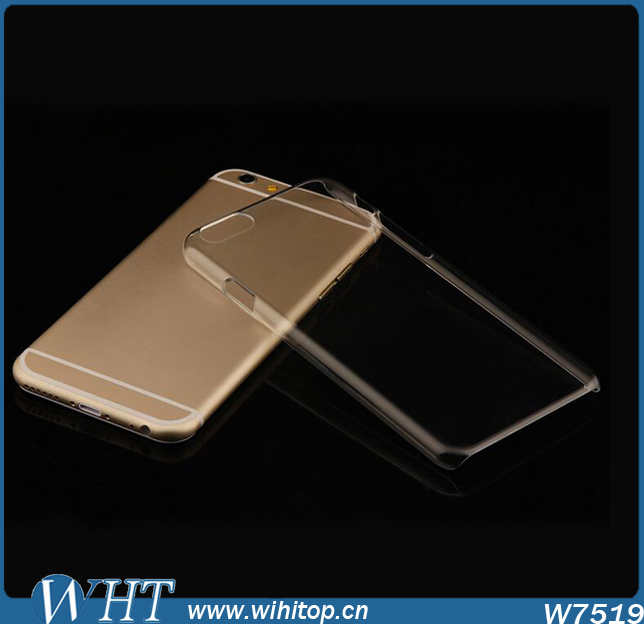 China Supplier Clear Hard PC Phone Case for iPhone 6