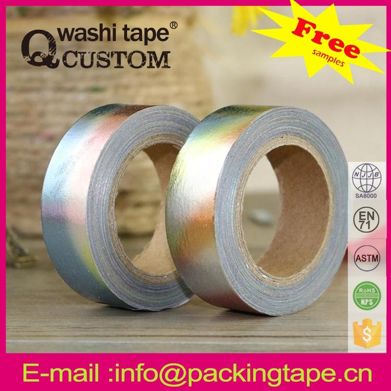 Qcustom colorful washi paper tape craft book with high quality