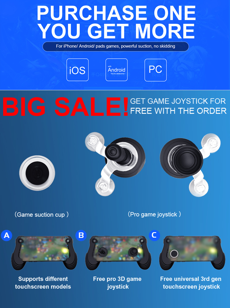 Mobile fling mini joystick with strong sucker mobile joystick for game controller
