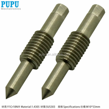 OEM CNC machining service arrow shaft with threading used for electronic project
