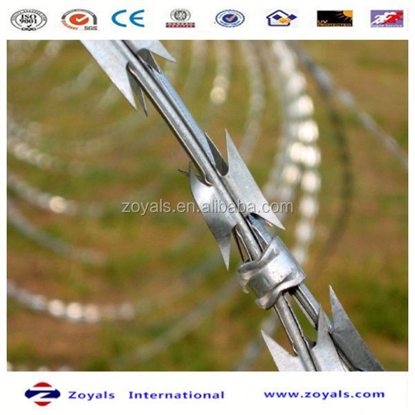 High Security fence wire razor panel welded wire mesh pvc welded galvanized fence garden fence accesories (manufacturer)