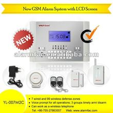 "English French and Italian Version!""GSM Wireless home Business Security Alarm Resource System with wireless bug listening device"