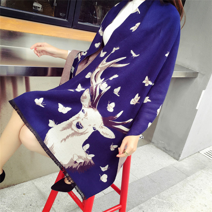 Winter New Fashion Women Blanket Female Cashmere Wool Warm Thick Cape Scarf and Shawl 2016