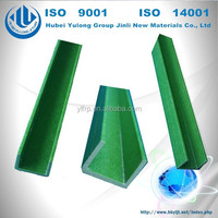 durable construction materials green FRP u channel fiberglass plastic profile