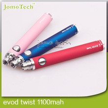 Hot sale electric cigarettes evod twist,650 mah & 1000 mah ego evod battery,evod starter kit