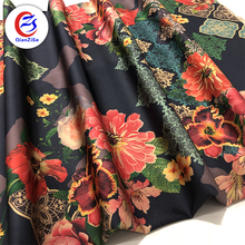 polyester wholesale heavy weight polyester cartoon print silk satin fabric by the yard