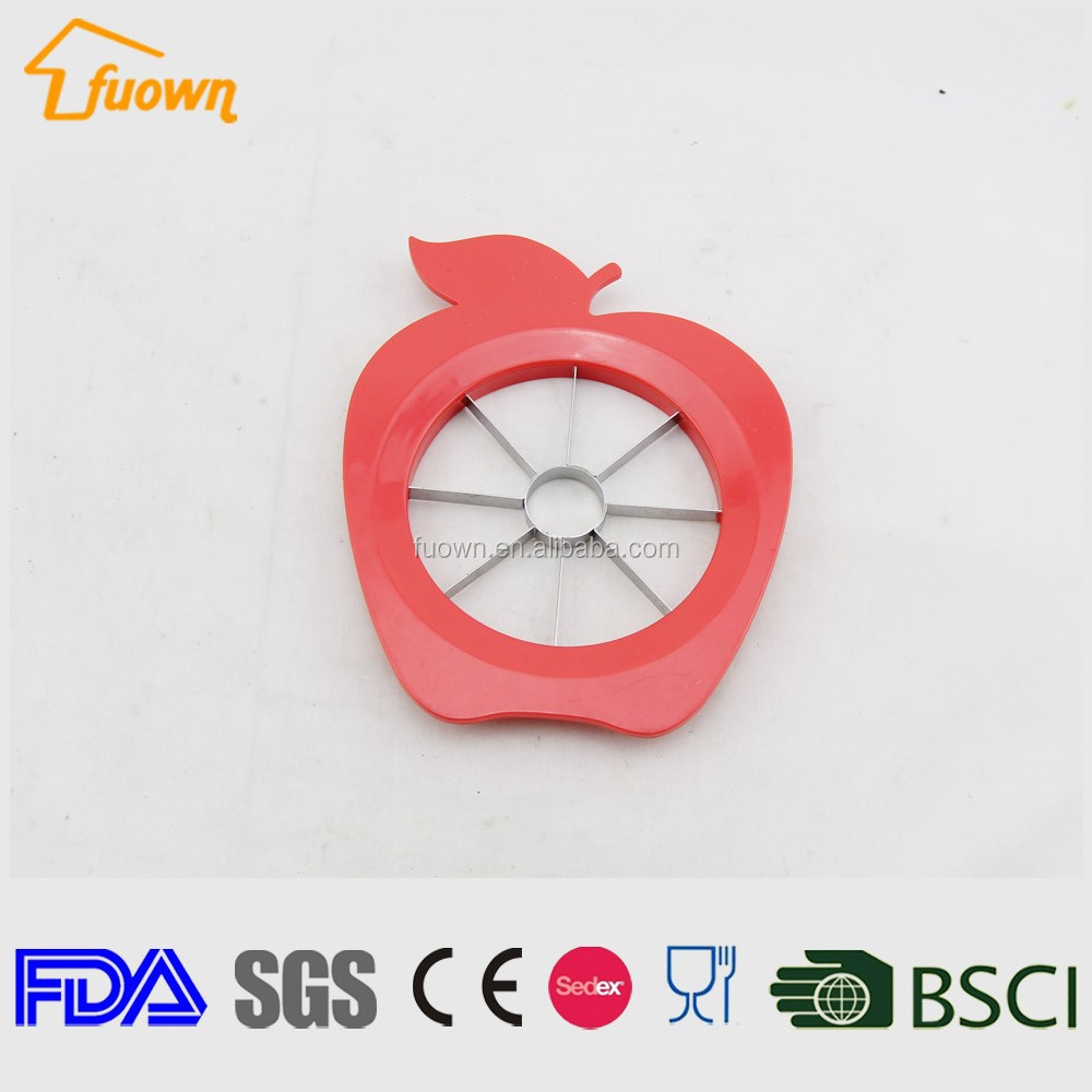 Apple shaped stainless steel apple cutter