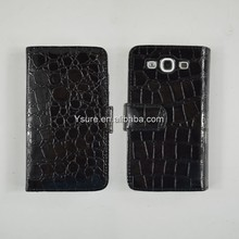 crocodile wallet leather purse inner hard case cover for samsung galaxy s3
