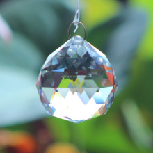 High quality faceted crystal balls for chandelier hanging glass ball hanging crystal ball