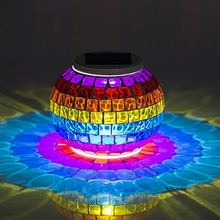 garden color changing glass solar light balls