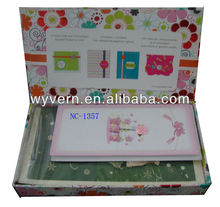 New Designner Card Kit.We wholesale photo albums/frames,gift boxes and paper bags ,note books, Office stationery.factory price!