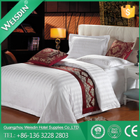 Polyester/cotton best selling satin hotel bedspread quilt luxury comforter set
