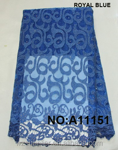 Wholesale African Embroidered Technics and Organza Fabric Type nigerian guipure lace