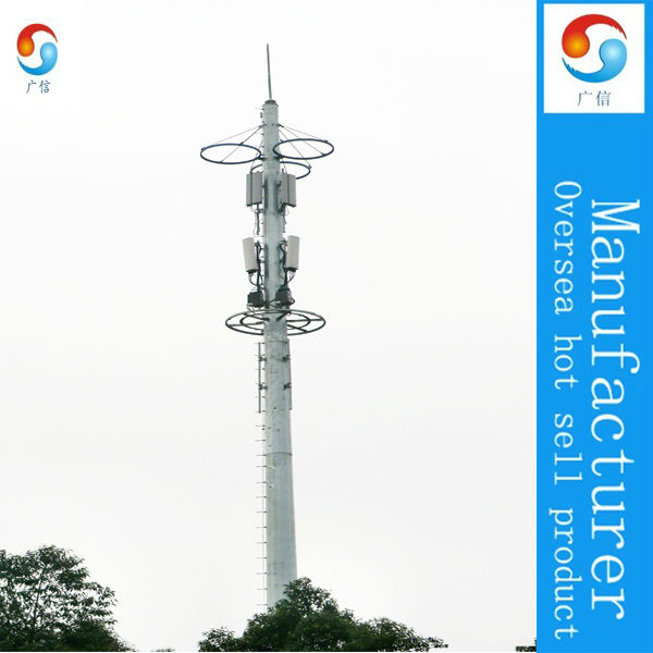 China Steel Telecom Tower Manufacturer ,Telecommunication Steel Mono-pole Pipe Towers with antennas