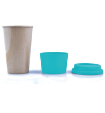 Christmas biodegradable rice husk bamboo fiber coffee cup