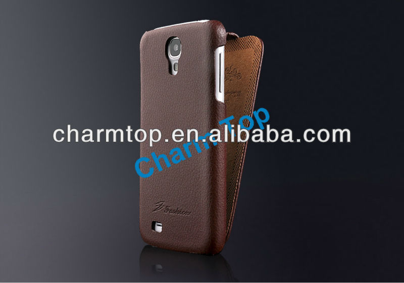 Genuine Leather Flip Case For Samsung Galaxy S4 i9500