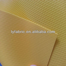 Widely use waterproof and FR yellow PVC Laminated mesh fabric