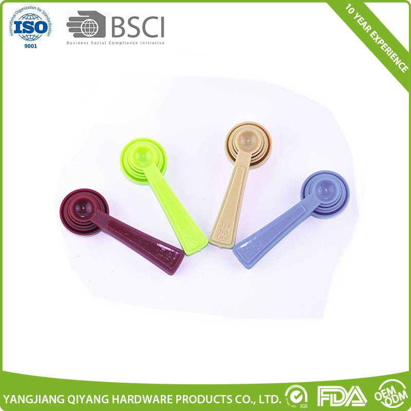 Colorful high quality measuring spoon Plastic measuring spoon set