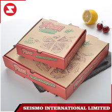 Custom recycled printed small hard fast food folding brown kraft pizza paper box packing