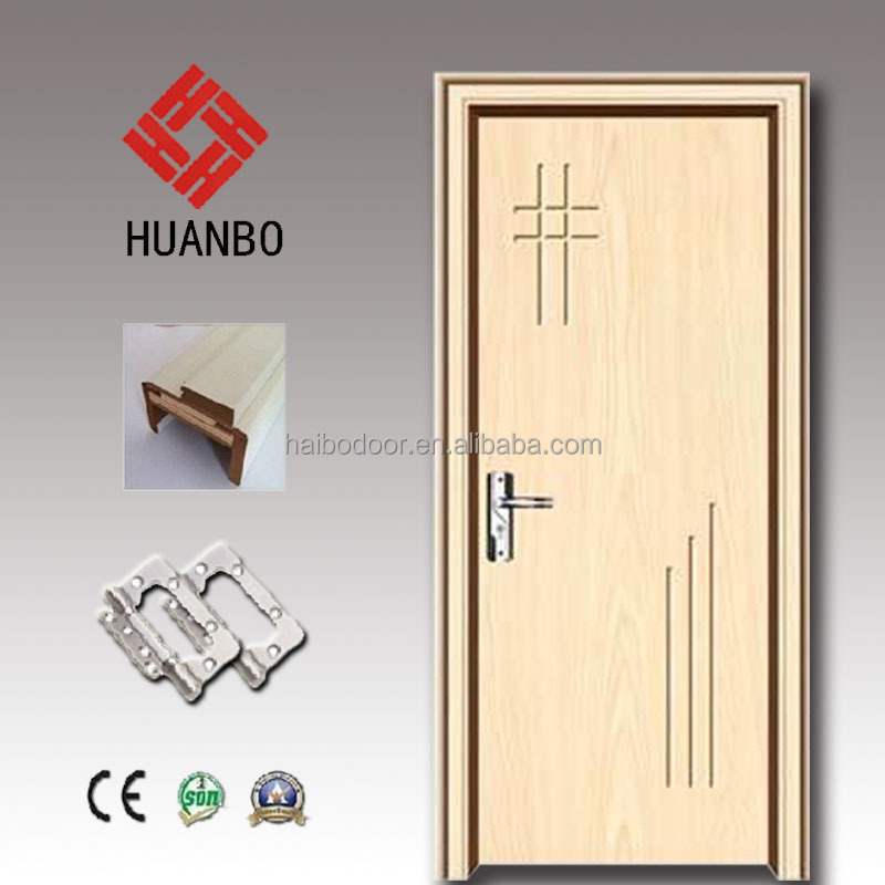 Latest design mdf pvc wood panel carved interior door for rooms