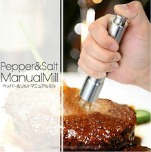 stainless steel pepper mill salt and pepper mill