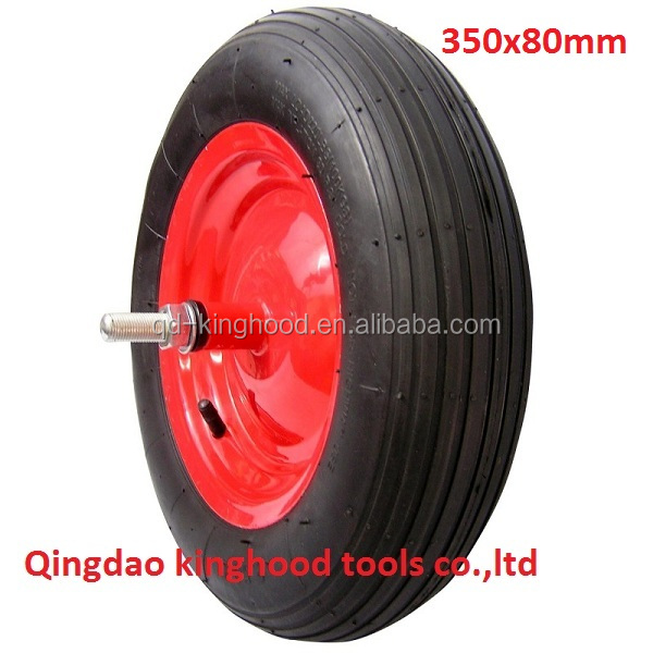 14 inch pneumatic wheel for Wheelbarrow 350x80mm