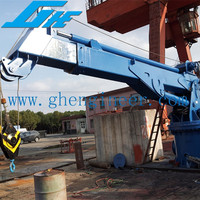 Hydraulic Telescopic Marine Crane Customerized Design