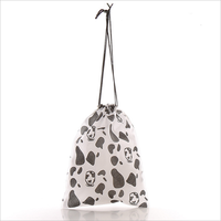 portable spotted non woven drawstring bag ball bag