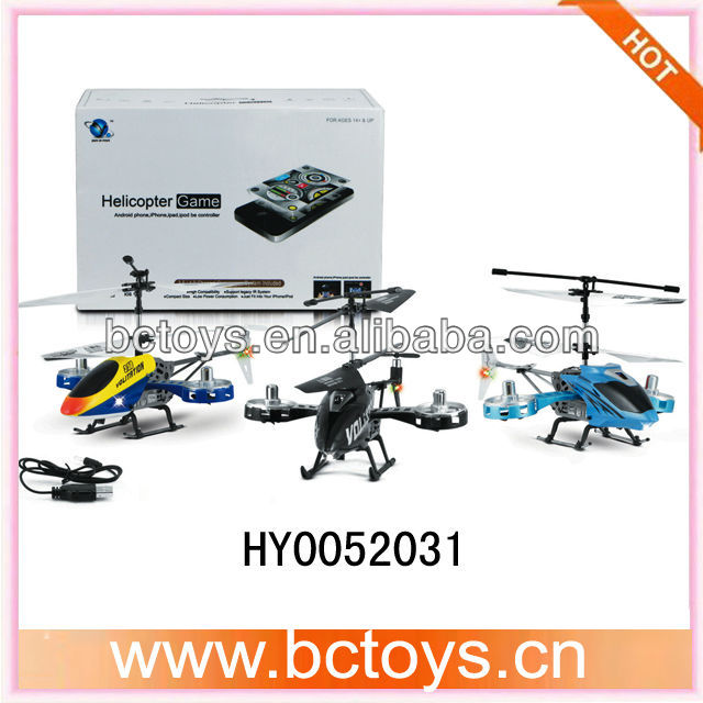 Controlled by iPhone / Android Rechargeable 3.5-CH R/C Helicopter w/ 300KP Camera